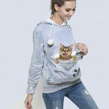 Unisex Big Kangaroo Pet Carrier Hoodie Long Sleeve Dog Cat Holder Carrier Sweatshirt For Small Pet Lovers Drop Shipping