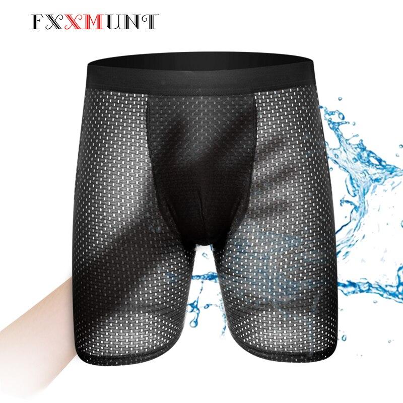 Männer Unterwäsche Sexy Gaze Shorts Lange Boxer Homme Ethika Herren Unterwäsche BoxerShorts Unterwäsche Atmungsaktive Unterhose Männlichen Shorts