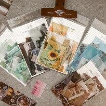 70 pièces/paquet série gardénia décoratif Washi autocollants Scrapbooking bâton étiquette journal papeterie Album autocollants