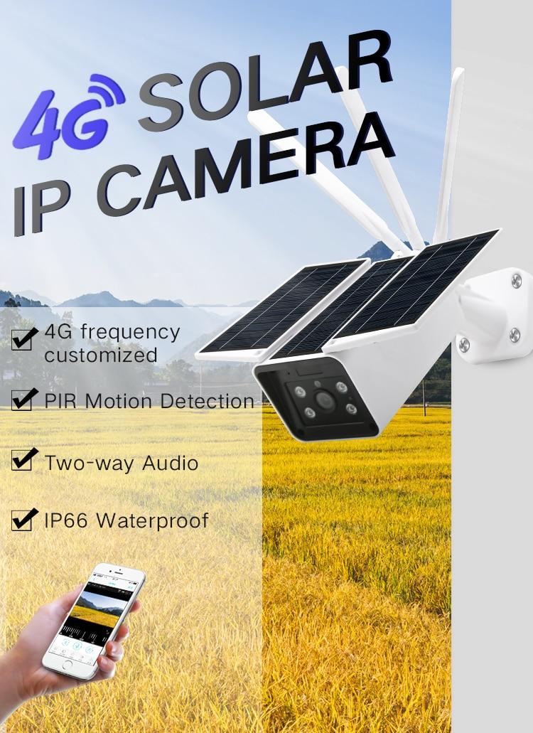 PDDHKK trampa de fotos 4G Cámara Solar IP para caza cámara de seguimiento a prueba de agua con Sensor PIR visión nocturna aplicación de soporte control