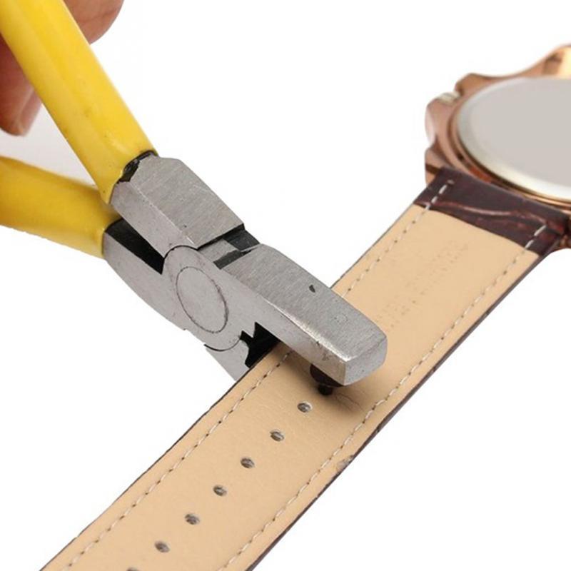 2,0 мм Универсальный ручной кожаный ремешок для часов инструмент для пробивания желтых небольших отверстий плоскогубцы инструменты для домашнего магазина