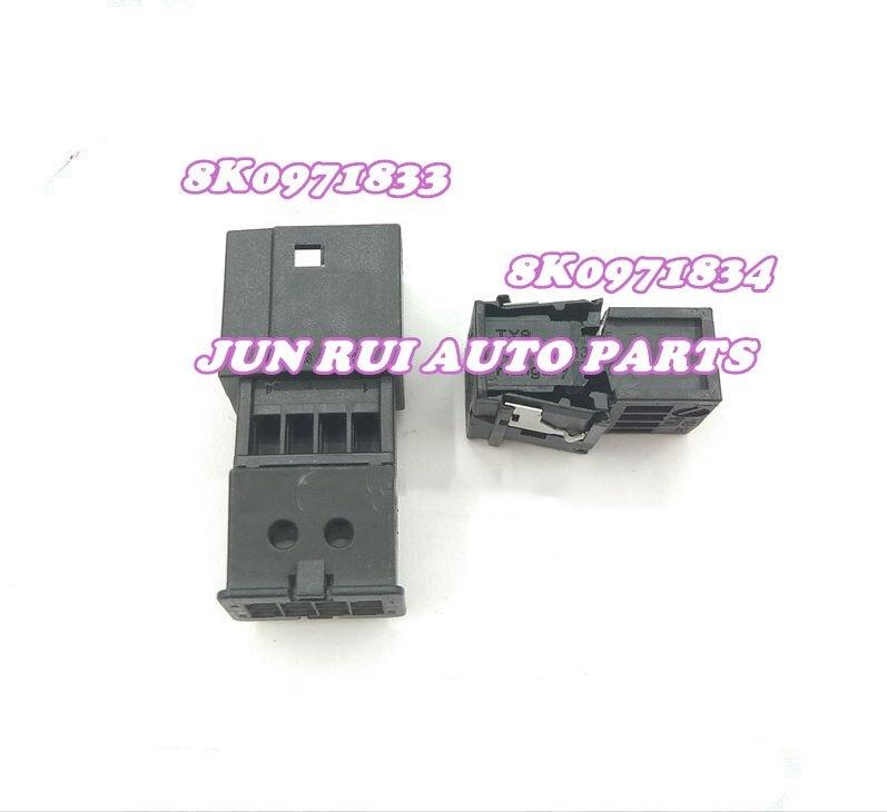 8 pinos/maneira para anti-reflexo espelho retrovisor plug conector automático soquete habitação com terminais para volkswagen audi 8k0971833/4
