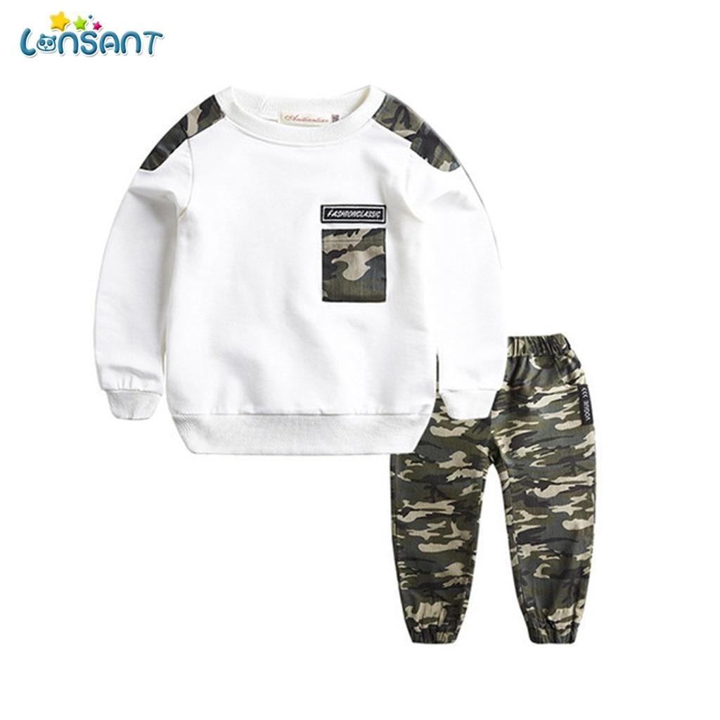 LONSANT bébé garçons vêtements ensembles automne hiver garçon ensemble Sport costumes pour garçons sweat pantalon 2 pièces enfants vêtements N30