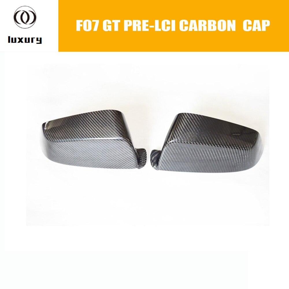 Embellecedor de tapa de espejo frontal de fibra de carbono F07 para BMW F07 GT 535i 550i 530d 535d pre-lci 2010-2013 (no se ajusta a Lci)