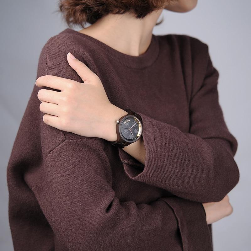 BOBO BIRD relojes de madera para mujer distintivos copos de nieve en gafas banda de madera relojes para regalo Ideal relojes de mujer C-P16-3