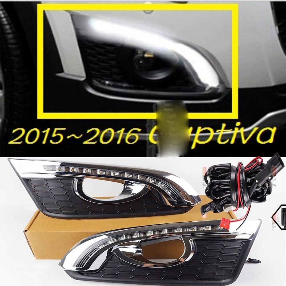 Chevrolet captiva 주간 조명 용 자동차 범퍼 전조등 2015 2016y captiva 안개등 용 led drl 헤드 라이트