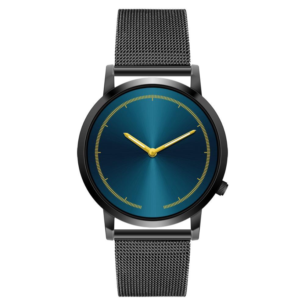 Reloj de hombre para negocios 2019 moda clásica oro cuarzo Acero inoxidable reloj de pulsera reloj de hombre reloj masculino reloj