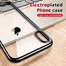 Étui Ultra mince pour iPhone XS Max XR X 7 8 6S Plus SE 2020 SE2 étui de protection arrière en Silicone souple transparent Fundas