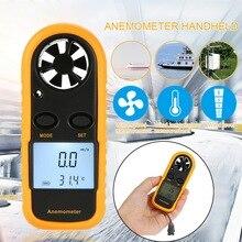 Digital Anemometer Wind Speed Meter GM816 Wind Speed Gauge Meter -10 ~ 45C Temperature Tester Anemometro with Backlight Display