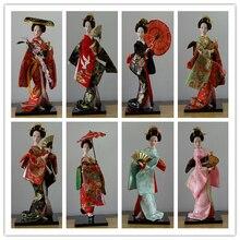 Ameublement japonais en soie style asiatique de lest   Kimono Kabuki poupée Geisha, ornements artisanaux, décoration pour la maison avec chiffres humanoïdes japonais