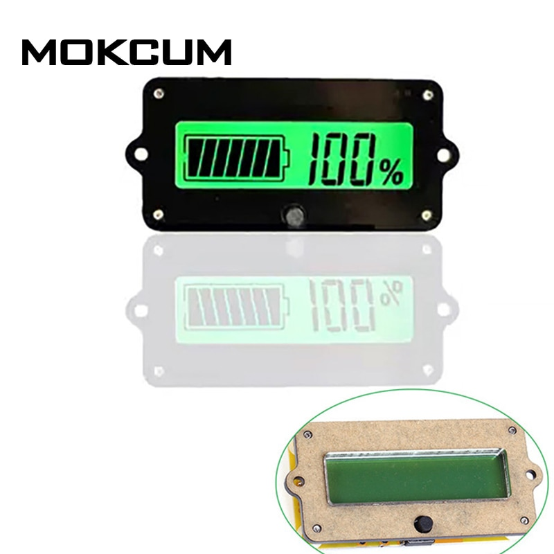 12 v bateria chumbo-ácido ly4 indicador de capacidade da bateria tester voltímetro detector luz verde diy led testador de bateria