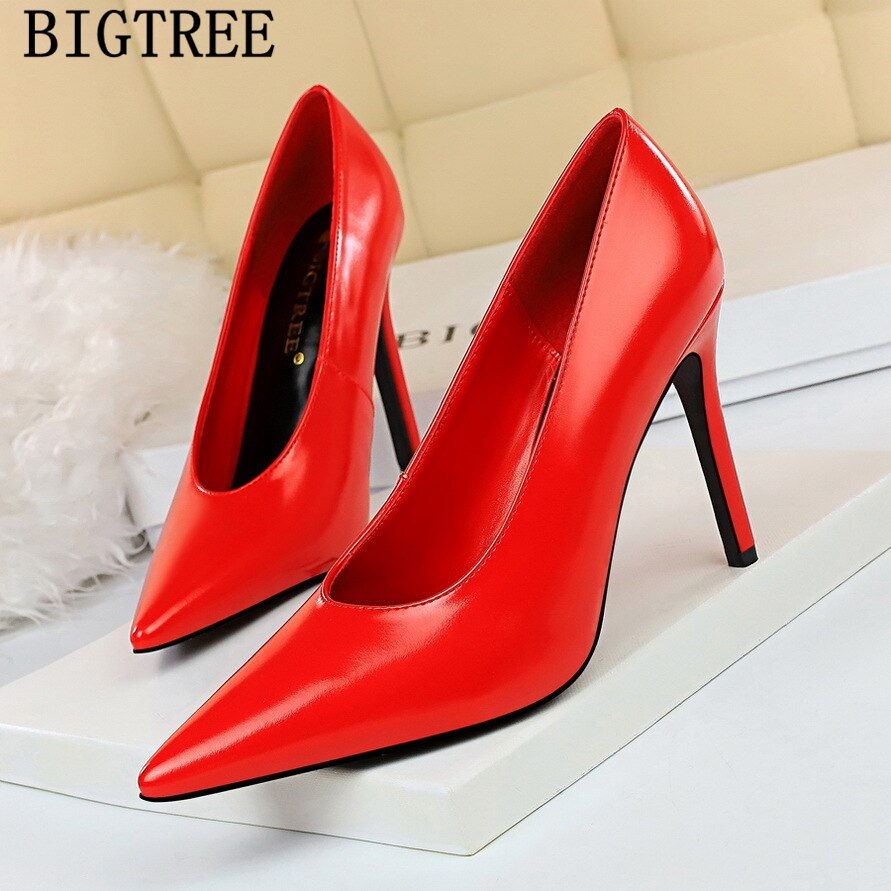 Women Shoes Thin High Heels Lady Wedding Party Shoes Women Elegant Pumps Large Size 34-40 Grandma's Single Shoes