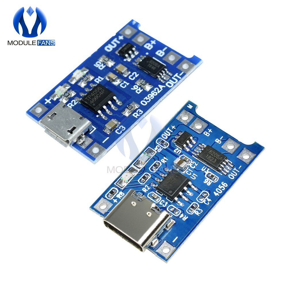 10 Uds. Micro USB 5V 1A 18650 TP4056 TC4056A TC4056 módulo para cargador de batería de litio placa de carga con protección Dual funciones