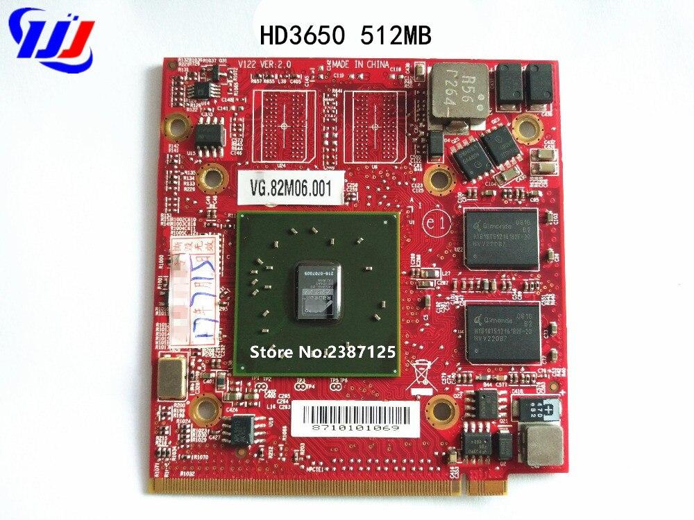 Для c e r A spire 4920G 5530 5720G 5920G 7520G для ATI Mobile Radeon HD3650 HD 3650 DDR2 512MB ноутбук видеокарта