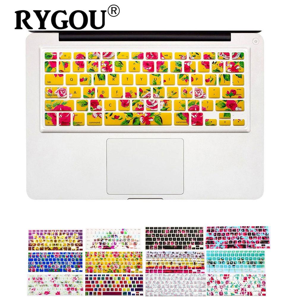 Наклейки на клавиатуру с цветочным рисунком для Macbook Air 13 Pro 13 15 17 дюймов для ноутбука iMac Magic Keyboard