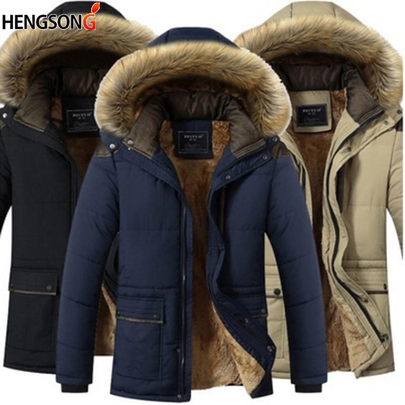 Invierno grueso cálido hombre Muti Color Patchwork con capucha soporte Collar chaquetas bolsillos Casual abrigo hombres Outwear chaquetas más tamaño