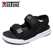 REETENE mode homme plage sandales 2020 été gladiateur sandales pour hommes en caoutchouc romain plage pantoufles tongs hommes chaussures taille 46