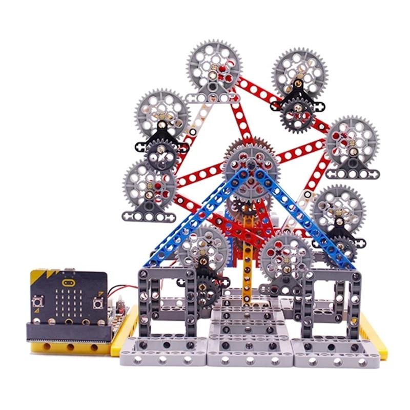 Yahboom RC Robot programable bloque de construcción noria Micro bit building block series juguete para chico