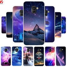 Coque souple pour Samsung Galaxy A8 2018 Coque de protection en silicone pour Galaxy A6 J4 J6 Plus J8 A7 A9 2018 Coque capa