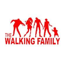15.7*7.7cm Funny Family On Board The Walking Dead Zombie Automobile Vinyl Car Window Sticker Decal Fashion Decor