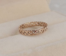 3 Mm Us 4 Om 10 Size Eenvoudige Holle Uniek Ontwerp Rose Gold Kleur Rvs Ringen Voor Vrouwen Vrouwelijke zoete Anel Feminino Anéis