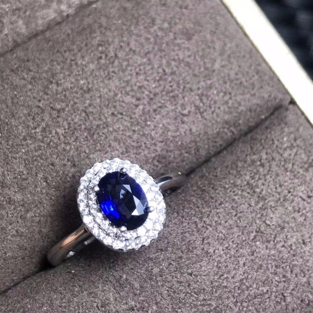 خاتم التوباز من الفضة عيار 925 باللون الأزرق الداكن ، على الطراز الكلاسيكي ، أحجار نادرة ، رخيص
