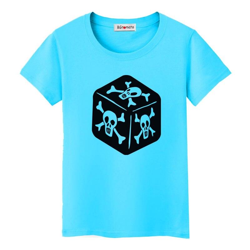 ¡Gran oferta! Camiseta BGtomato Skull Cube, camiseta a la moda para mujer, camiseta de calavera gótica haut femme casual streetwear modis