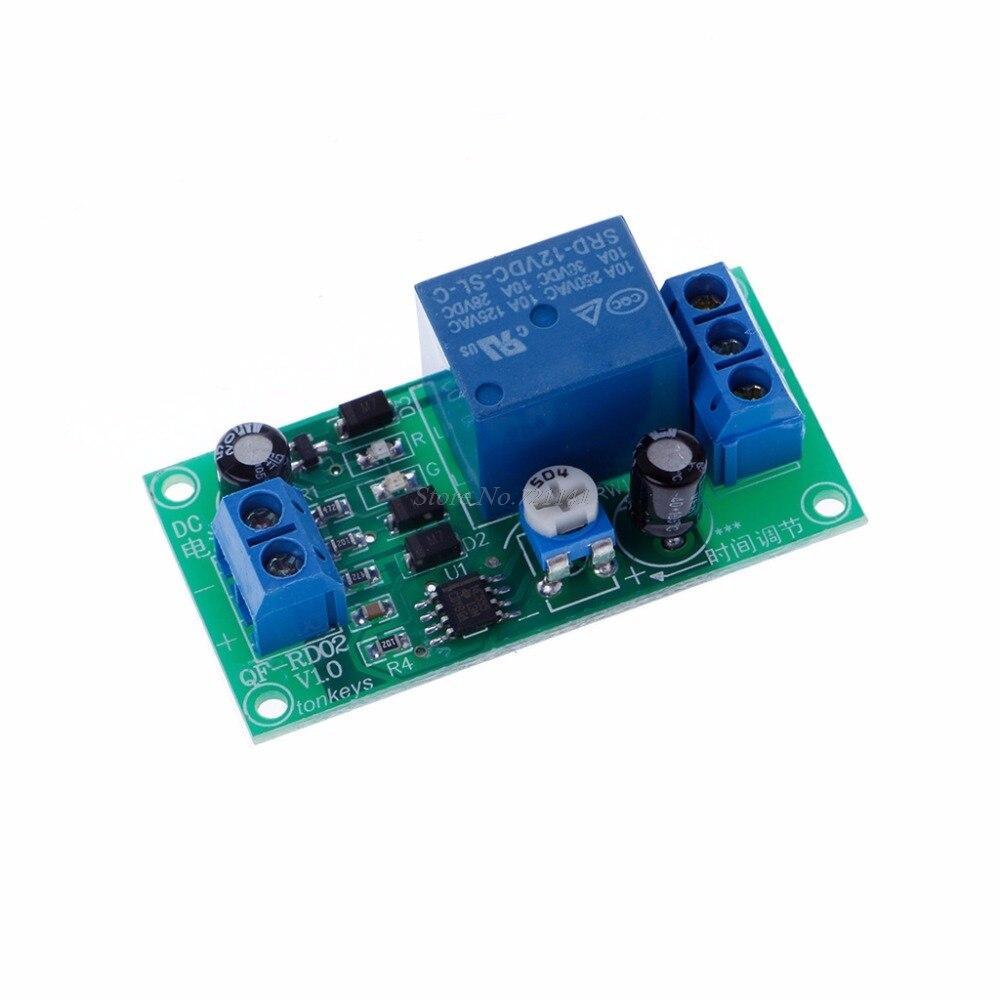 DC 12V до 30V DC/250V AC 0-60S регулируемый таймер задержки NE555 релейный модуль интегральные схемы Прямая поставка