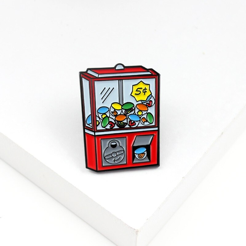 Retro Mini juego de máquina consola de juegos escuela Arcade esmalte Pin camisa insignias para mochila niño niña jugar regalos