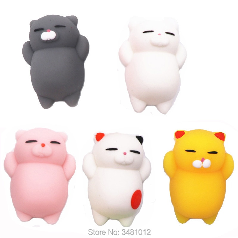 25pcs/pack Squishes Cat Antistress Shark Octopus Seal Animals Koala Squeeze Squishy Anti-stress Slow Rising Squishies Funny Toys enlarge