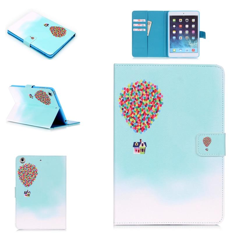 Para Apple iPad Air Flower Pagoda Cat Sakura Marshmallow globo de aire caliente PU fundas de cuero para Apple iPad 5 9,7 pulgadas mesa de cubierta