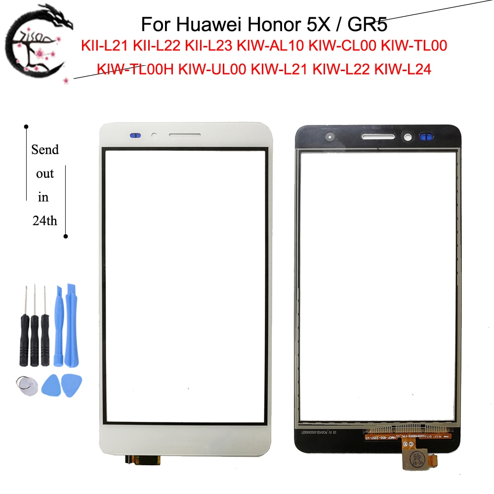 Panel táctil para Huawei Honor 5X GR5 KIW-L21 KIW L22 L24 pantalla táctil con Flex Cable Honor5X KII-L21 KII-L22 Sensor digitalizador