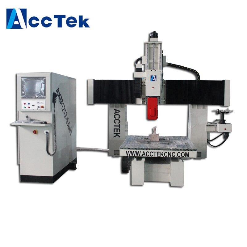 Máquina enrutadora cnc de carpintería de 5 ejes para máquina de grabado de moldes de espuma/cambio automático de herramientas 3D