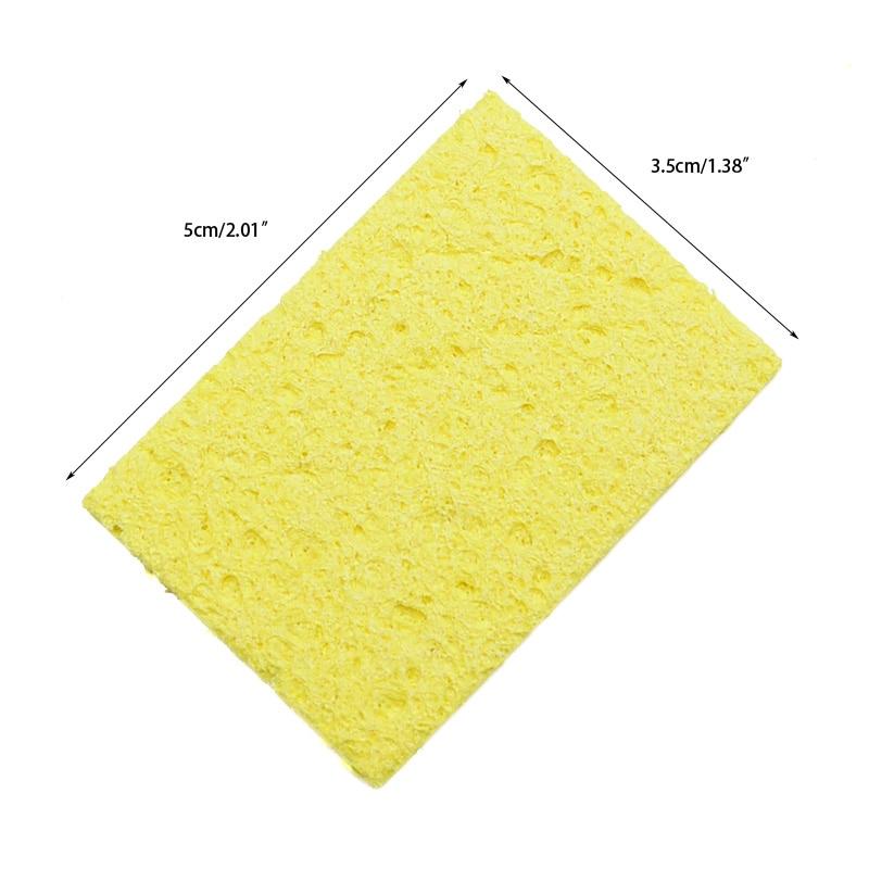 5 / 10db sárga tisztító szivacs, tisztító forrasztópáka - Hegesztő felszerelések - Fénykép 3