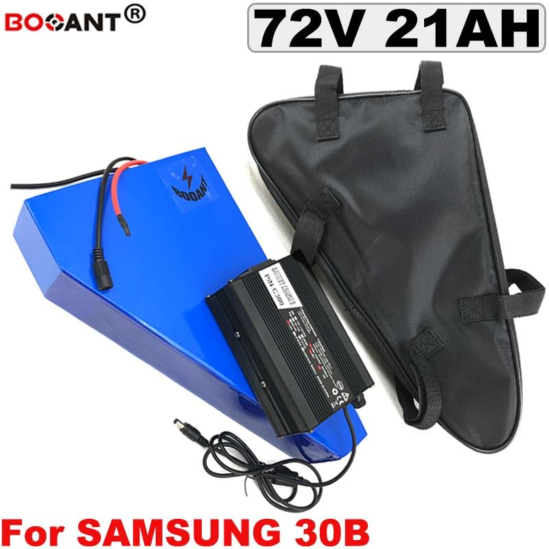 72 V 20AH dreieck E-bike Lithium-Batterie für Samsung 30B 18650 für Bafang BBSHD 3000 W Motor 20 S 72 v Elektrische fahrrad Batterie