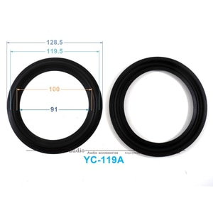New 10 pcs /lot = 5 Pair 5inch Woofer Repairable Parts / Speaker Rubber Surround  ( 128.5mm / 119.5mm / 100mm / 91mm )