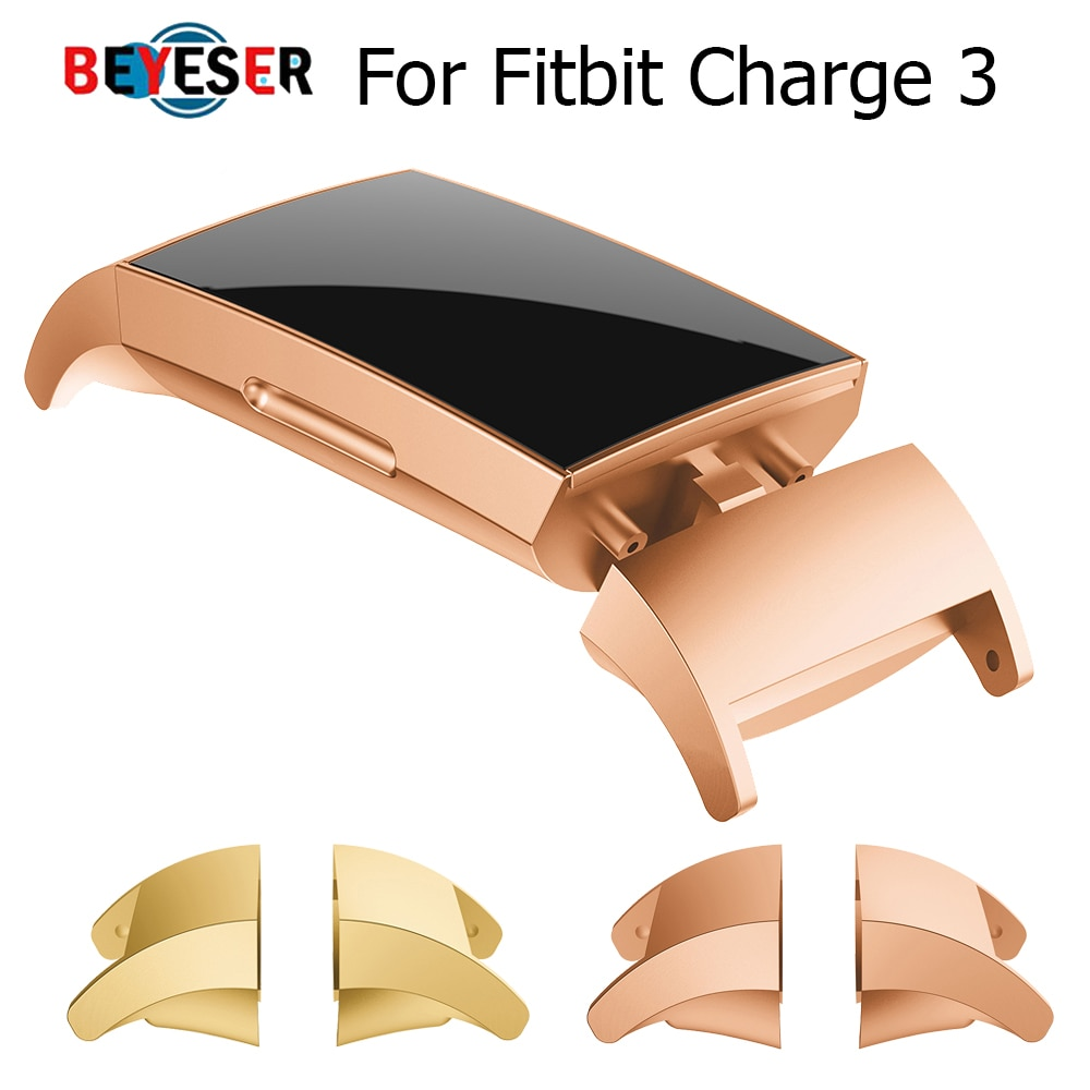 1 Pair Hot Product Stainless Steel Connector Connect Watch Band Accessory For Fitbit Charge 3 fitnes