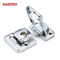 naierdi j402 cabinet box square lock with key spring latch catch toggle locks mild steel hasp for sliding door window hardware