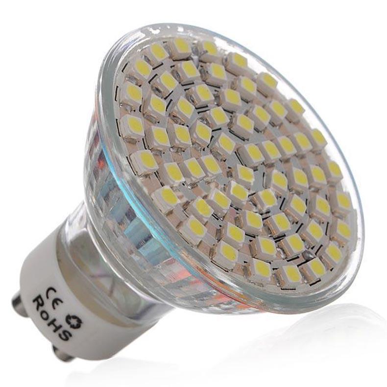 Светодиодная лампа GU10 60 SMD 3528 240 лм с теплым белым/холодным белым светом, 10 шт.