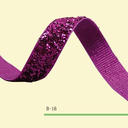 "Cinta de terciopelo metálico púrpura elástica cinta metálica brillante 3/8 ""cinta de terciopelo elástico brillo precio negociado"