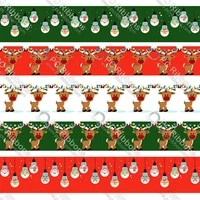 christmas party printed grosgrain ribbon christmas decorations for home decoration accessories decoration mariage