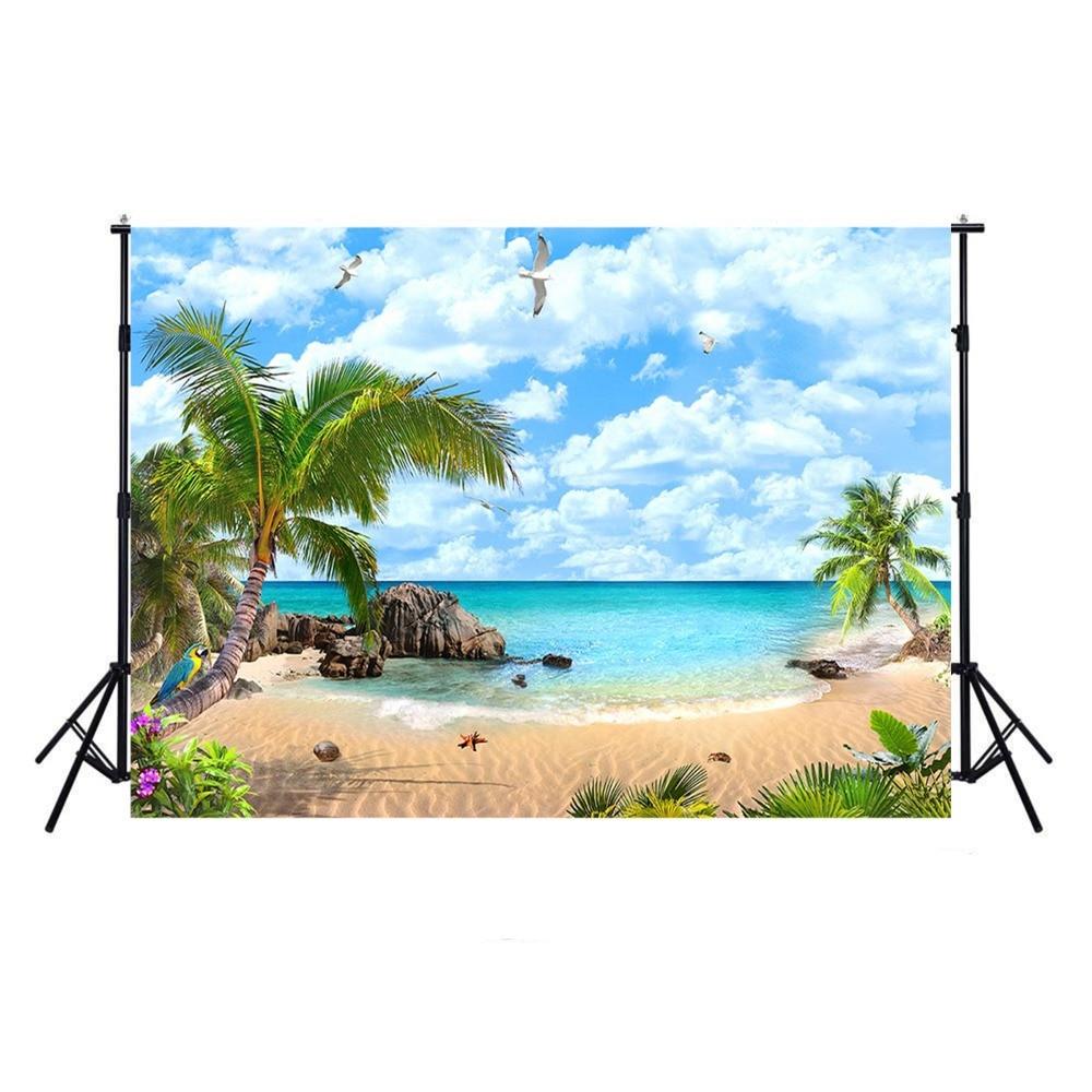 Fotografía de playa Backdrops océano Luau telón de fondo para fotografía diseño tropical Hawái fondo para foto de estudio Boda