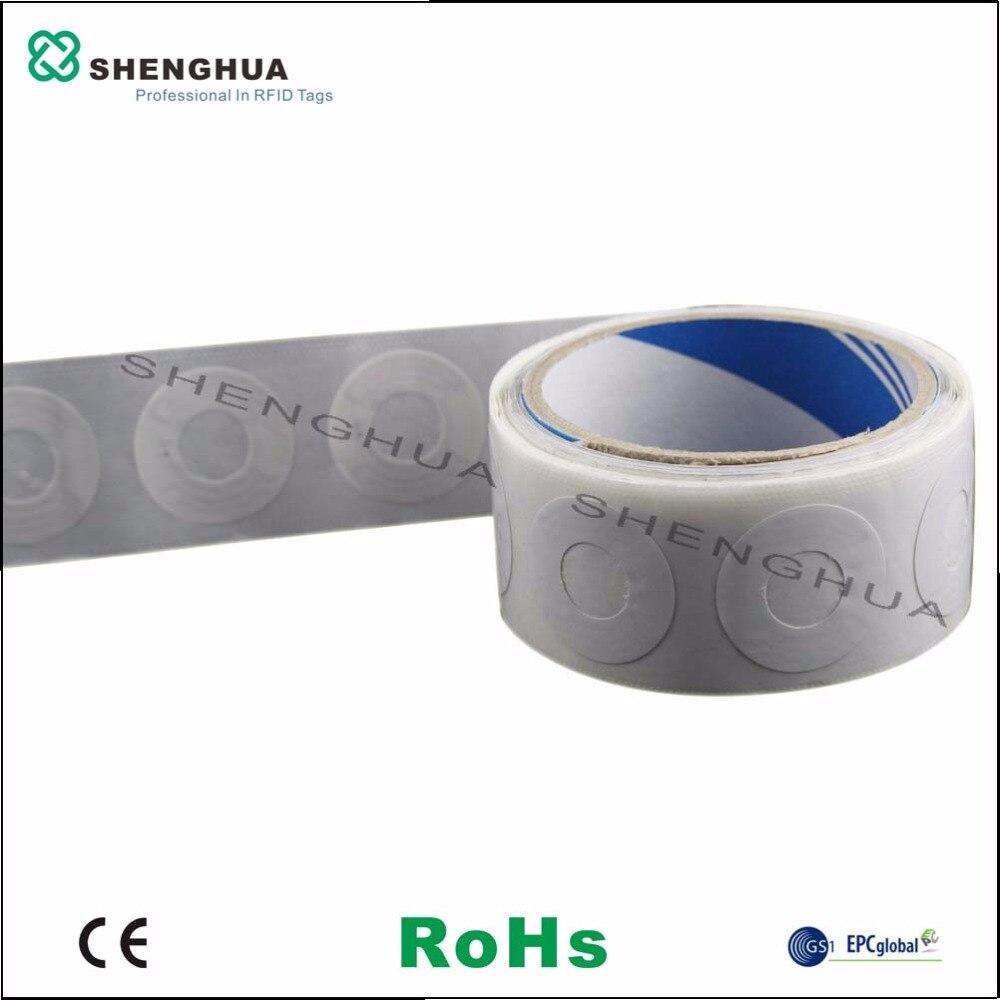 10 unids/pack programable Rfid UHF pasiva inteligente papel Cd Dvd etiqueta engomada diámetro 35mm en blanco personalización disponible