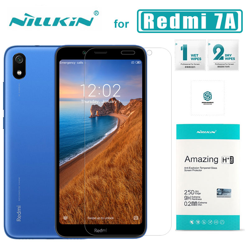 Para Xiaomi Redmi 7A de Nillkin 9H + Pro 2.5D Protector de pantalla de vidrio templado Ultra-delgado para Xiaomi Redmi 7A cristal Nilkin