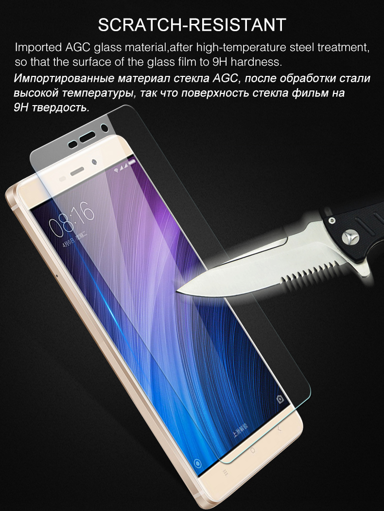 Szkło hartowane screen protector dla xiaomi redmi 4 aiyoo pro uwaga 3 4 4x mi4 redmi 3 s 4a mi6 mi5s plus mi5 mi4i mi4c szkło film 4