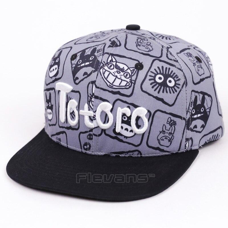 My Neighbor Totoro Snapback Caps Hat Anime Cartoon Men Women Casual Cotton Baseball Cap Hats 2 Styles