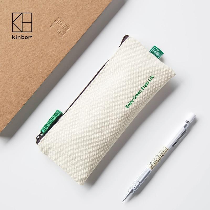 KINBOR Studentenfedermäppchen Leinwand Einfachen Schreibwaren Bleistiftbeutel Tragbare Tasche 1 STÜCKE
