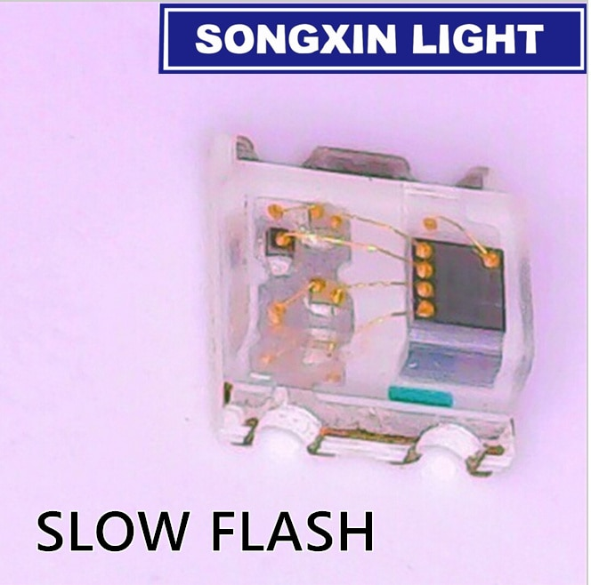 50 шт 0805 RGB Красочные 2,0*1,8*0,8 мм многоцветное мерцание 0807 RGB диодный светодиодный мерцающие лампы медленное/быстрое мигание с IC
