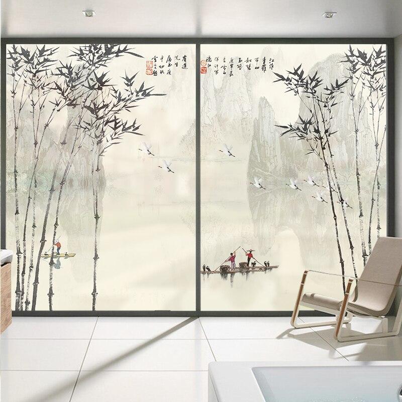 Custom size Study glass foil custom frosted window balcony sliding door glass sticker sunscreen insulation film