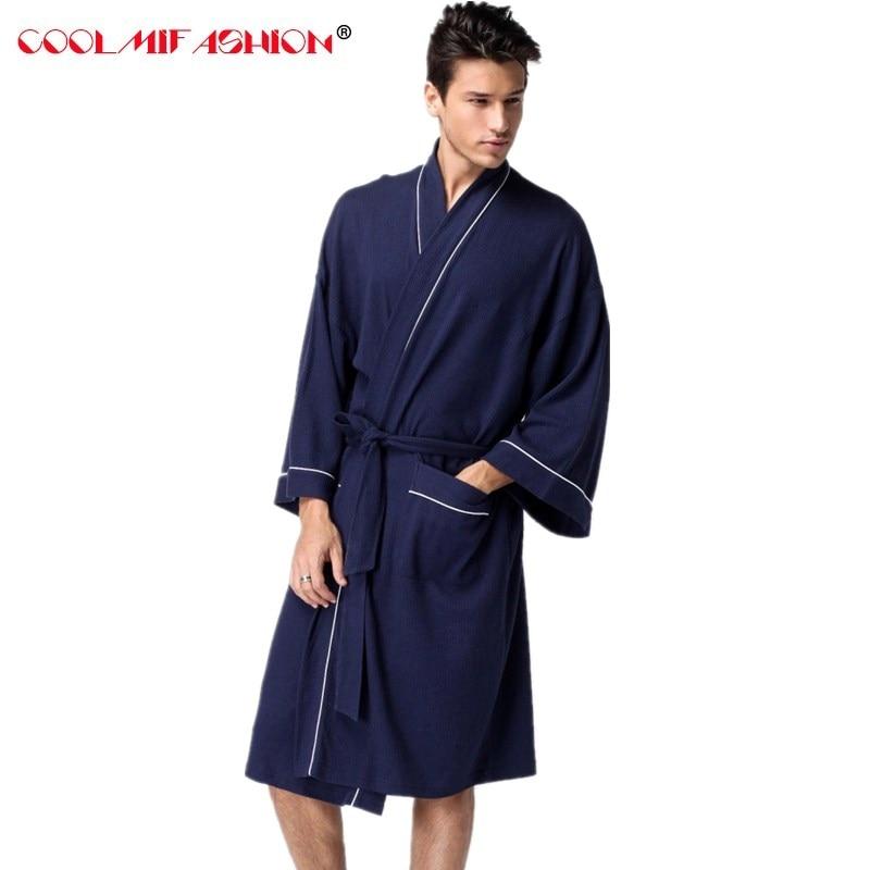 Мужской домашний халат s Waffle cottob, черный, белый халат, мужской длинный банный халат, халаты для сауны, спа-отеля, оптовая продажа